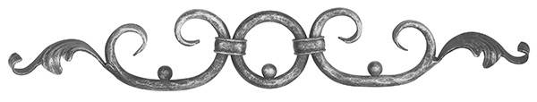 Ländliches Barock | Maße: 520x85 mm | Material: Ø 12 mm | Stahl S235JR, roh