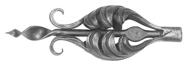 Ländliches Barock | Maße: 60x190 mm | Material: 3 mm | Stahl S235JR, roh