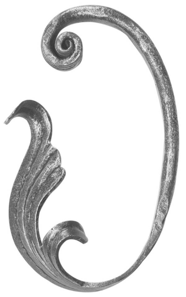 Meisterbarock   Maße: 100x145 mm   Material: 16x8 mm   Stahl S235JR, roh
