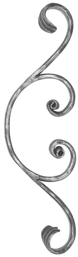 Meisterbarock | Maße: 105x365 mm | Material: 16x8 mm | Stahl S235JR, roh