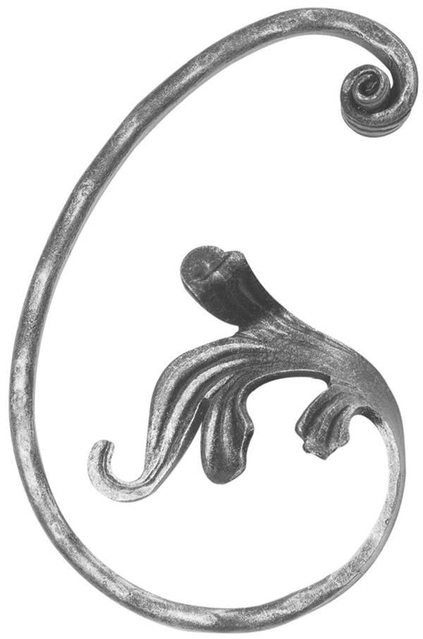 Meisterbarock | Maße: 130x200 mm | Material: 16x8 mm | Stahl S235JR, roh