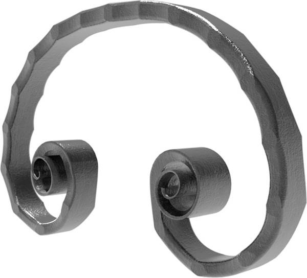 Meisterbarock | Maße: 165x105 mm | Material: 16x8 mm | Stahl S235JR, roh