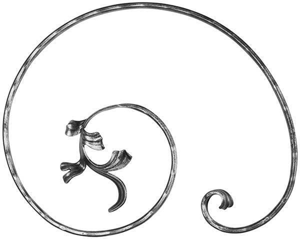 Meisterbarock | Maße: 315x405 mm | Material: 16x8 mm | Stahl S235JR, roh