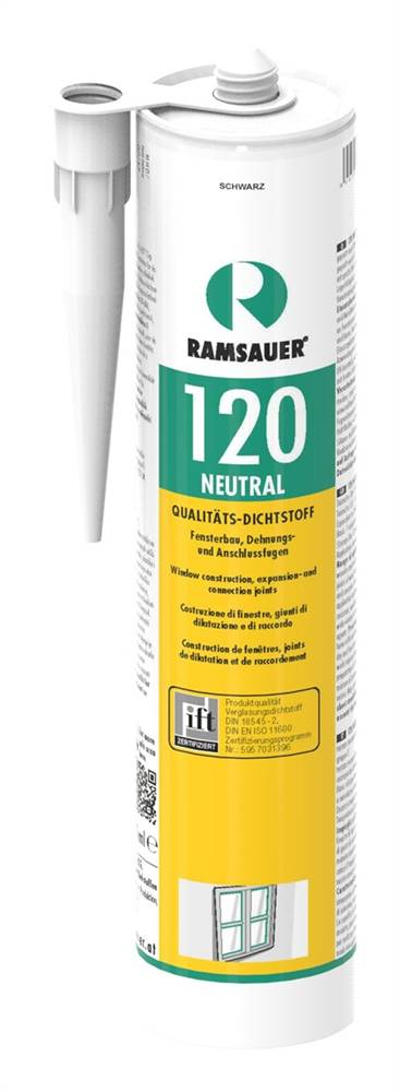 neutraler Silikondichtstoff schwarz, 310ml Kartusc