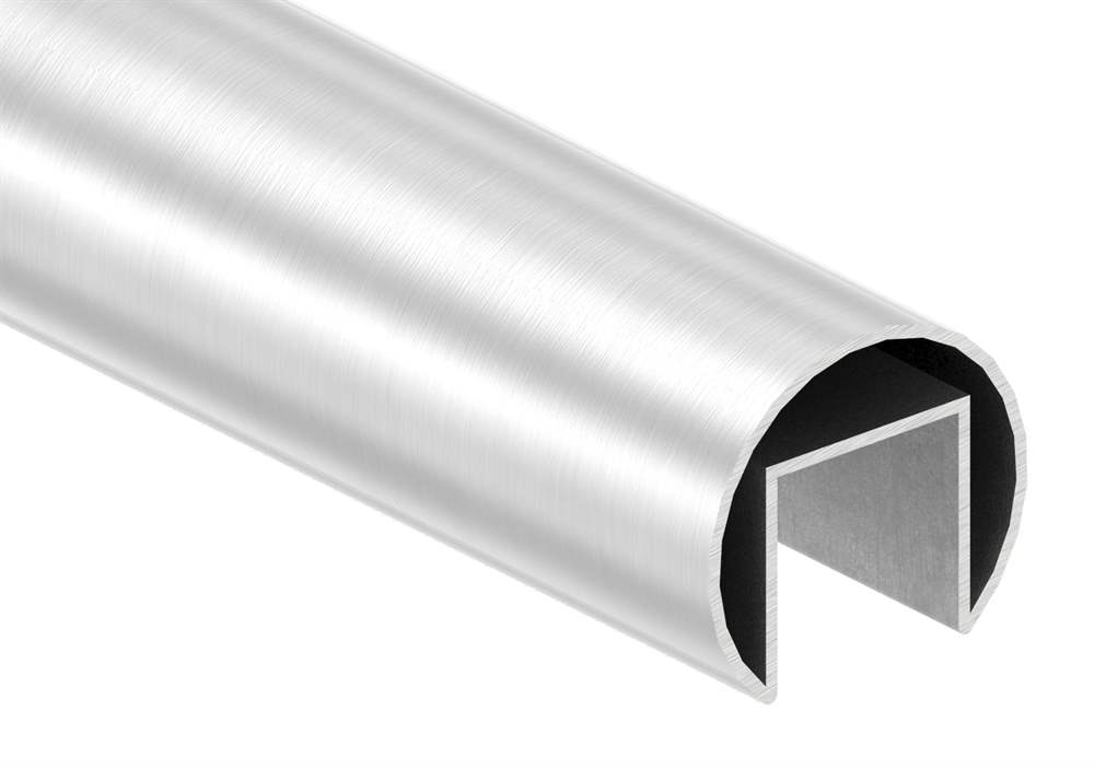 Nutrohr | Maße: Ø 42,4x1,5 mm | mit Nut: 24x24 mm | Länge: 6000 mm | V2A