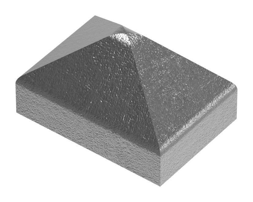 Pfeilerbedecker | für Rechteckrohr | Maße: 30x20 mm | Stahl S235JR, roh
