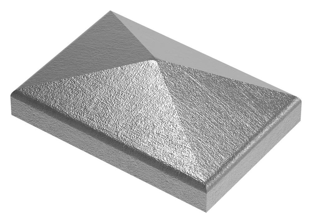 Pfeilerbedecker | für Rechteckrohr | Maße: 60x40 mm | Stahl S235JR, roh