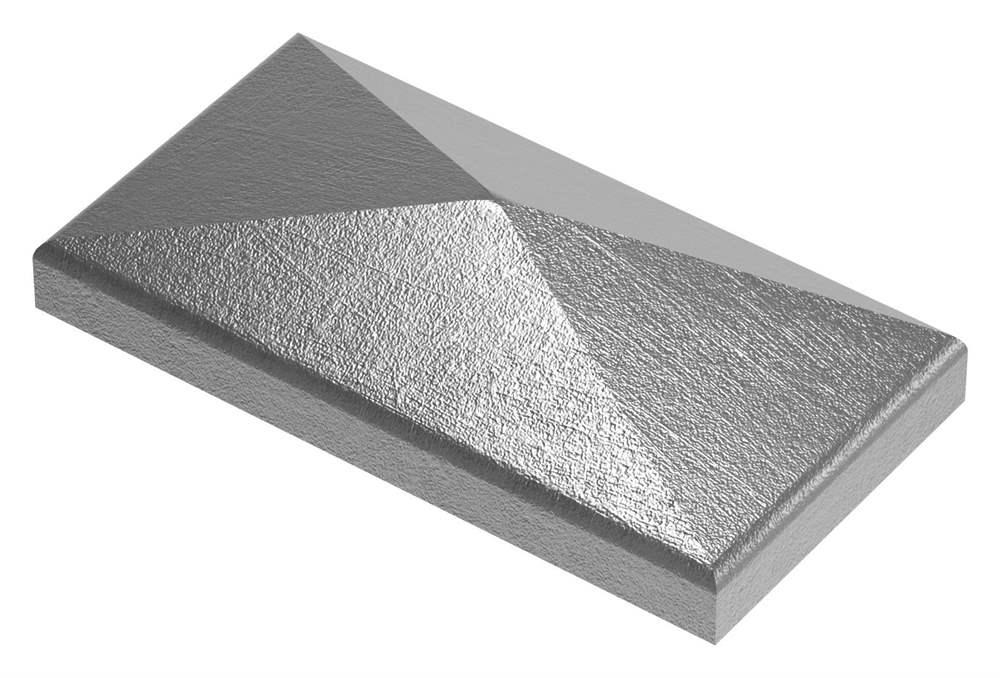 Pfeilerbedecker | für Rechteckrohr | Maße: 80x40 mm | Stahl S235JR, roh