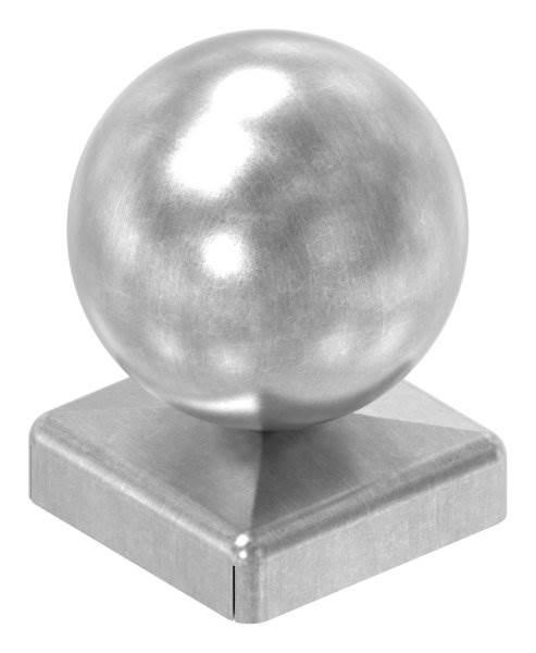 Pfeilerbedecker für Quadratrohr   30x30 mm   mit Kugel Ø 40 mm   Stahl (Roh) S235JR