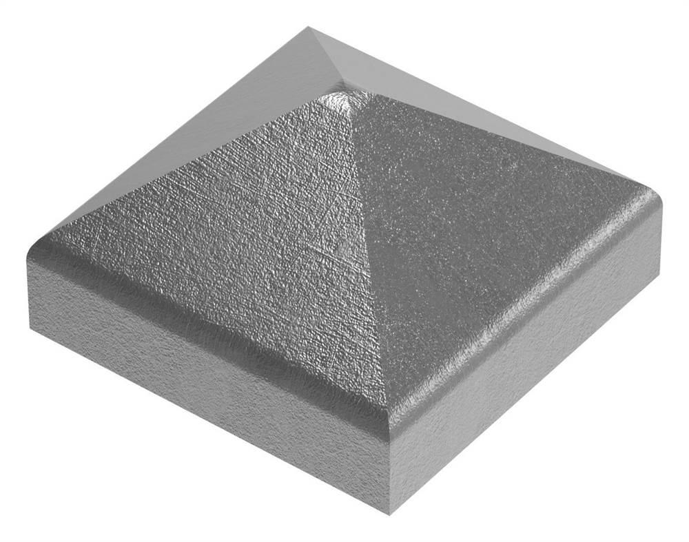 Pfeilerbedecker für Quadratrohr | 30x30 mm | Stahl (Roh) S235JR