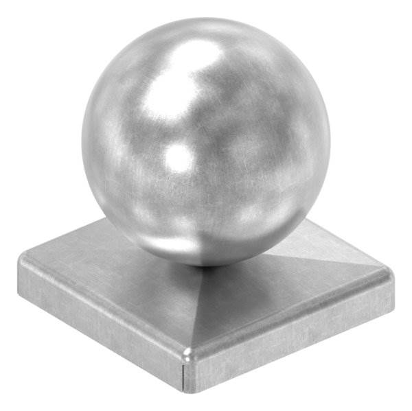 Pfeilerbedecker für Quadratrohr   50x50 mm   mit Kugel Ø 50 mm   Stahl (Roh) S235JR