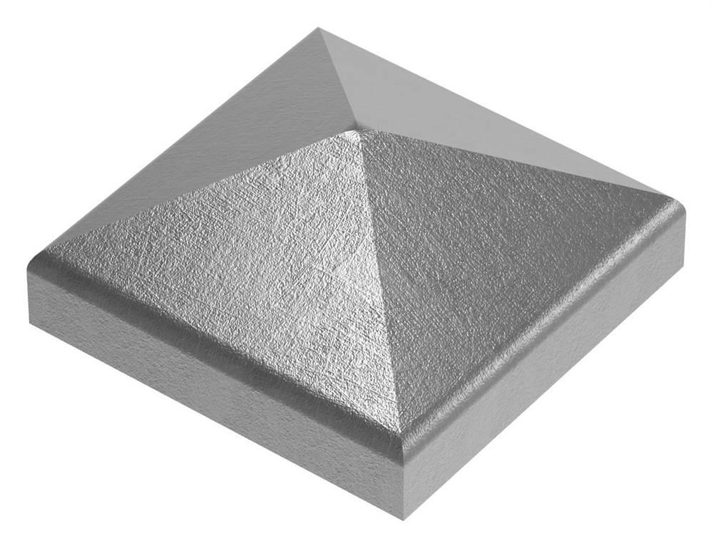 Pfeilerbedecker für Quadratrohr | 80x80 mm | Stahl (Roh) S235JR