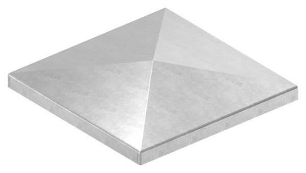 Pfeilerbedecker | für Quadratrohr | Maße: 100x100 mm | Stahl S235JR, roh