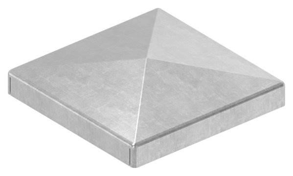 Pfeilerbedecker | für Quadratrohr | Maße: 50x50 mm | Stahl S235JR, roh