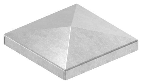 Pfeilerbedecker | für Quadratrohr | Maße: 60x60 mm | Stahl S235JR, roh