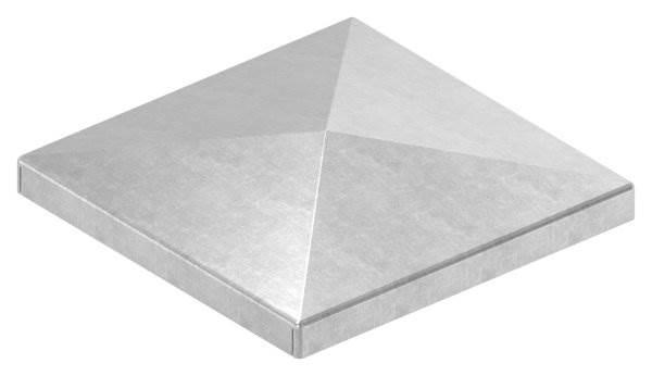 Pfeilerbedecker | für Quadratrohr | Maße: 80x80 mm | Stahl S235JR, roh