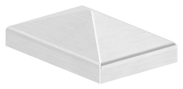 Pfostenabdeckung | für Vierkantrohr: 60x40 mm | V2A