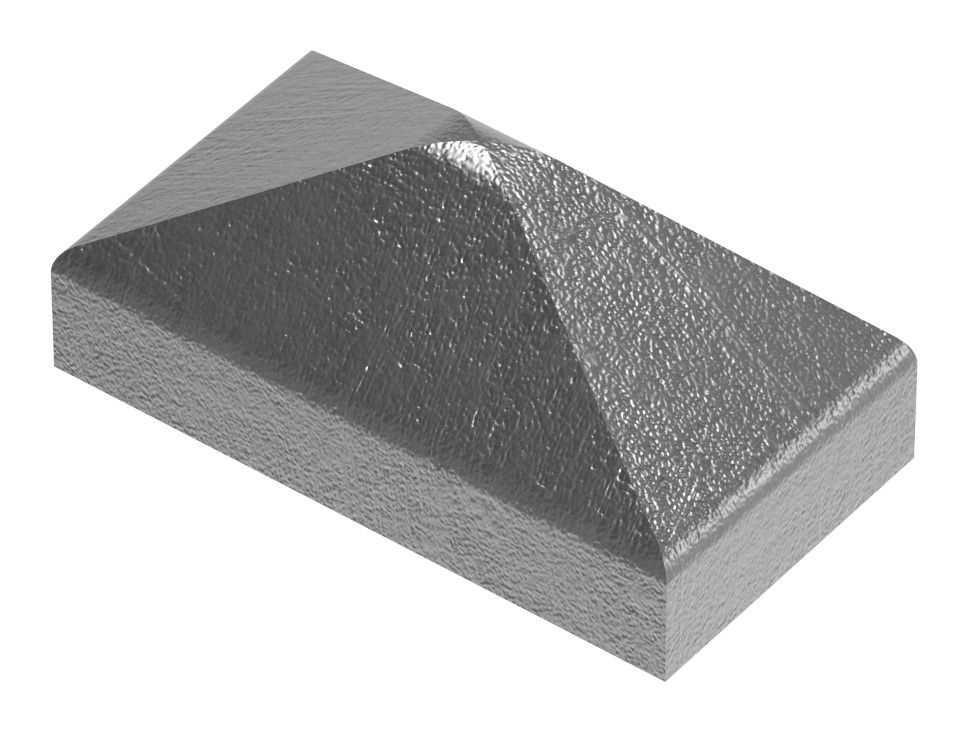 Pfeilerbedecker | für Rechteckrohr | Maße: 40x20 mm | Stahl S235JR, roh