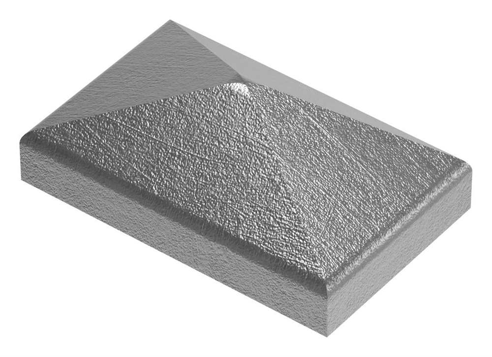 Pfeilerbedecker | für Rechteckrohr | Maße: 50x30 mm | Stahl S235JR, roh