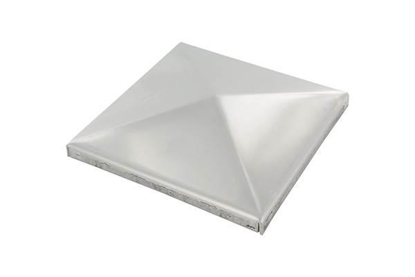 Pyramidenkappe für Rohr 60x60 mm V2A ungeschliffen