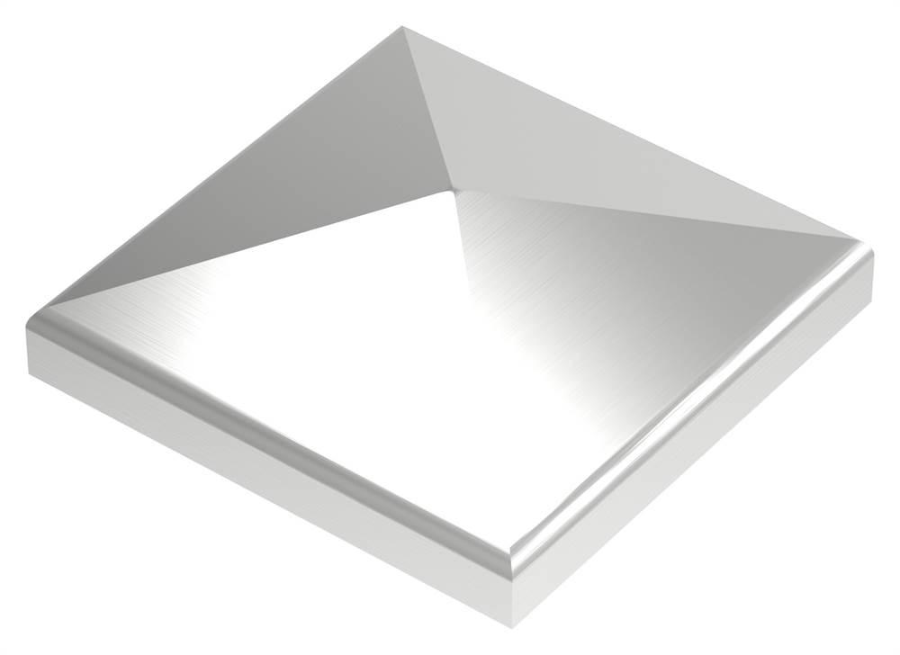Pyramidenkappe | für Vierkantrohr: 70x70 mm | V2A
