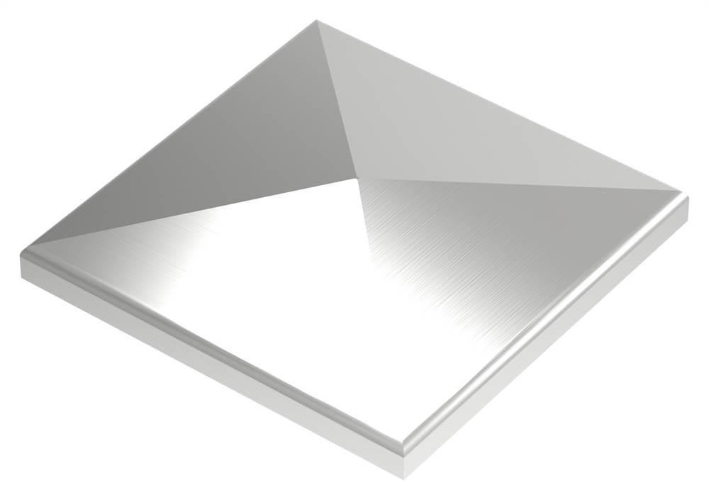 Pyramidenkappe | für Vierkantrohr: 90x90 mm | V2A