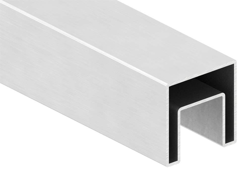 Quadrat-Nutrohr | Maße: 40x40x1,5 mm | mit Nut: 24x24 mm | Länge: 3000 mm | V2A
