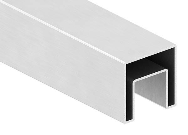 Quadrat-Nutrohr | Maße: 40x40x1,5 mm | mit Nut: 24x24 mm | Länge: 6000 mm | V2A