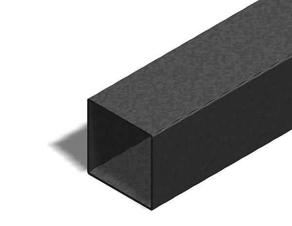 Quadratrohr | gehämmert | Maße: 100x100x3 mm | Länge: 6000 mm | Stahl S235JR, roh