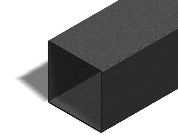 Quadratrohr | gehämmert | Maße: 120x120x3 mm | Länge: 3000 mm | Stahl S235JR, roh