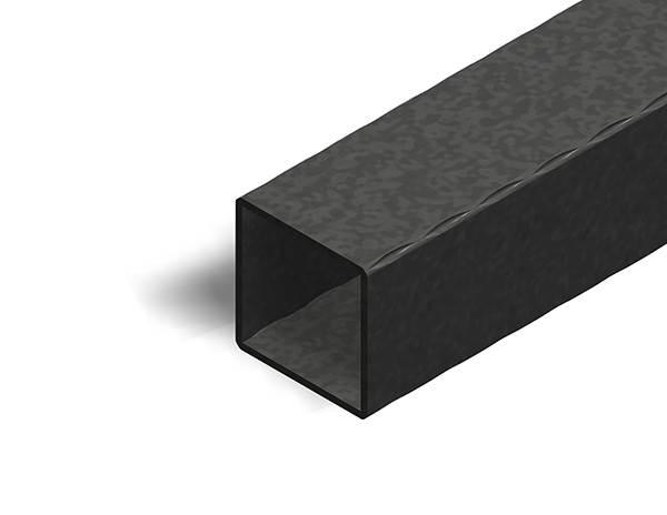 Quadratrohr | gehämmert | Maße: 60x60x2,5 mm | Länge: 3000 mm | Stahl S235JR, roh