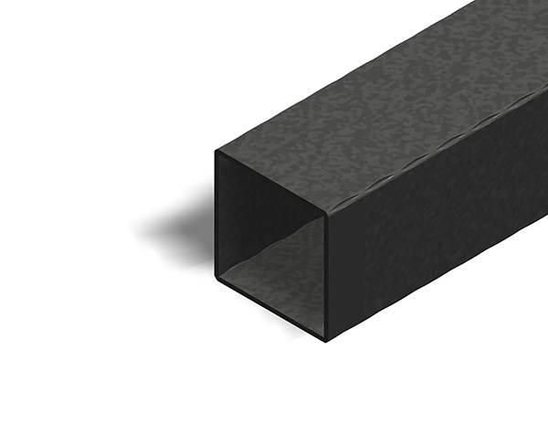 Quadratrohr | gehämmert | Maße: 80x80x2,5 mm | Länge: 3000 mm | Stahl S235JR, roh