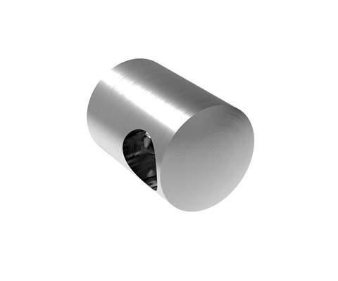 Querstabhalter Ø 22 mm mit Bohrung 10,00 mm und flachen Anschluss