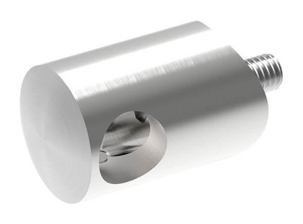 Querstabhalter Ø 22 mm | Anschluss: 33,7 mm | mit Bohrung: 12,2 mm | V2A