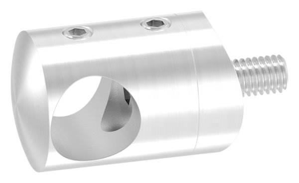 Querstabhalter Ø 22 mm | Anschluss: 42,4 mm | mit Bohrung: 14,2 mm | V2A