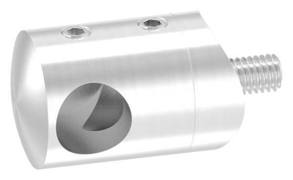 Querstabhalter Ø 22 mm mit Sackloch 12,2 mm (links) | für Ø 33,7 mm