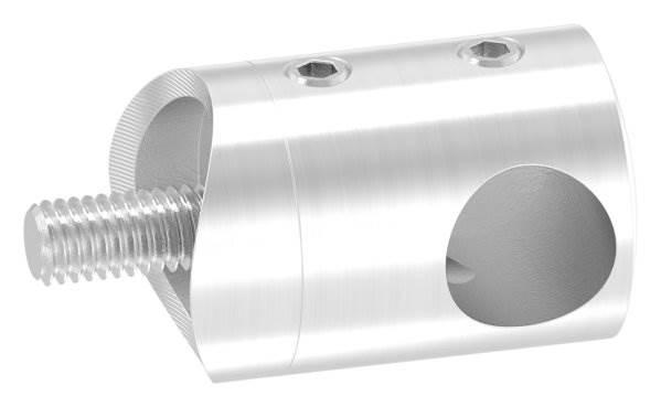 Querstabhalter Ø 22 mm mit Sackloch 12,2 mm (rechts) | für Ø 33,7 mm