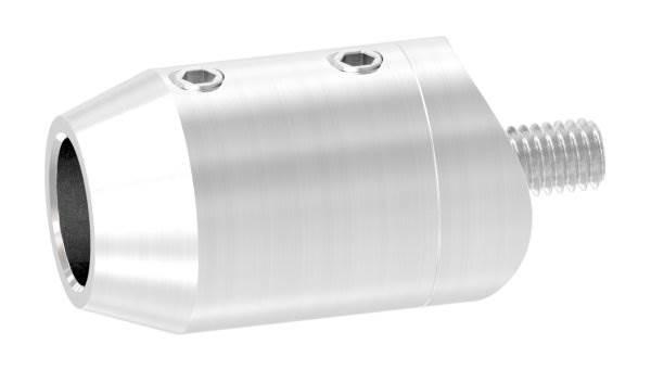 Querstabhalter Stirnseiteige Montage | Sackloch 12,2mm | Für Ø 33,7mm