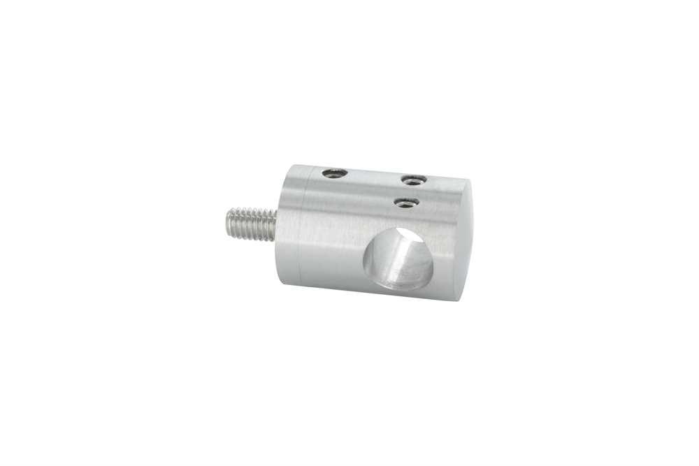 Querstabhalter zum Stoßen mit Bohrung 12,2 mm | für  Flach