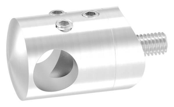 Querstabhalter zum Stoßen mit Bohrung 12,2 mm | für Ø 33,7 mm