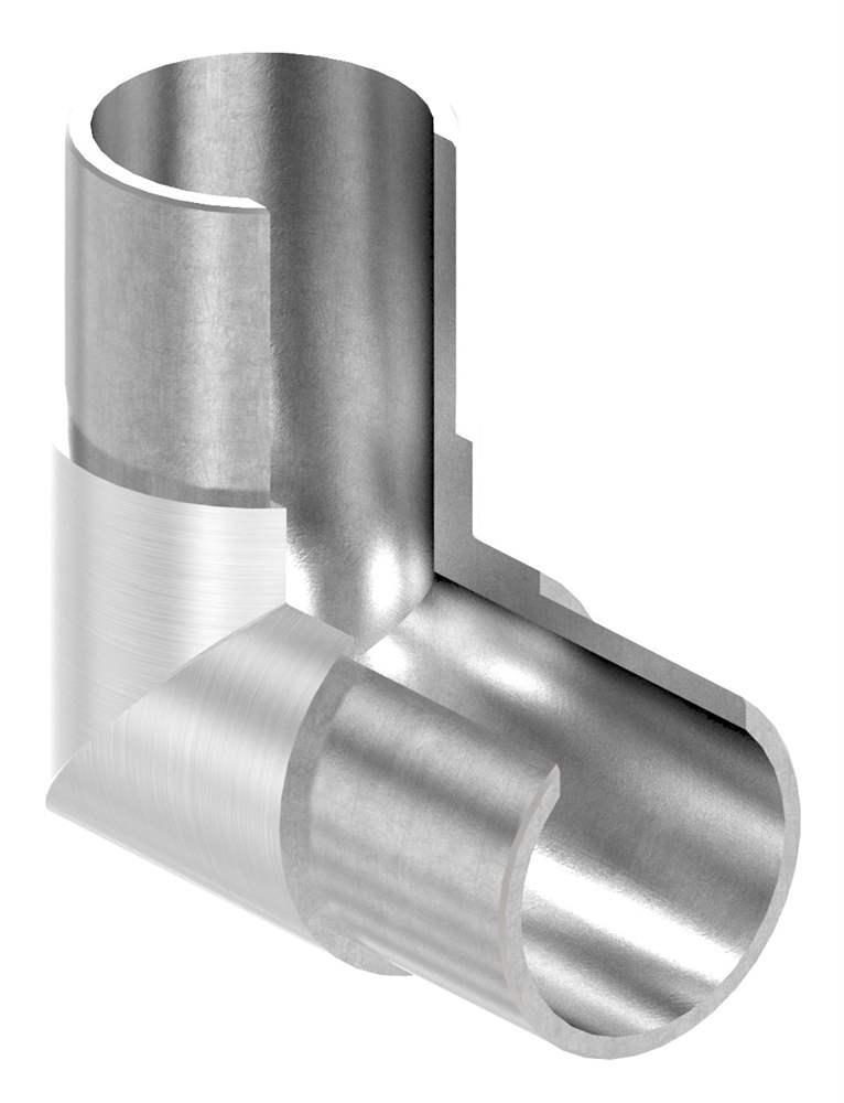Rahmenecke 90° | vertikal | für Nutrohr Ø 48,3 mm | V2A
