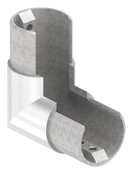 Rahmenecke 90° | vertikal | für Nutrohr Ø 42,4 mm | V2A