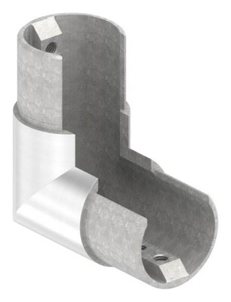 Rahmenecke 90° | vertikal | für Nutrohr Ø 42,4 mm | V4A