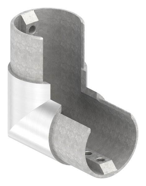 Rahmenecke 90° | vertikal | für Nutrohr Ø 48,3 mm | V4A