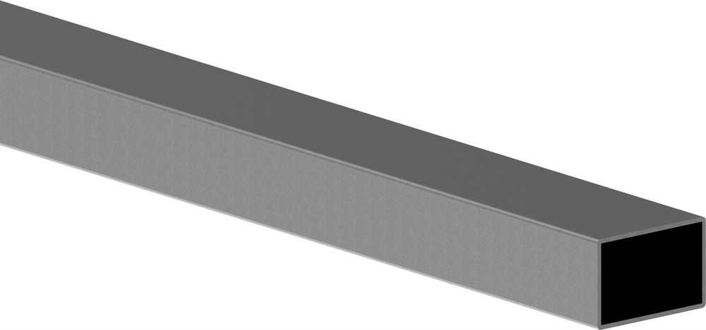 Rechteckrohr | Maße: 25x15x2 mm | Länge: 6000 mm | Stahl S235JR, roh