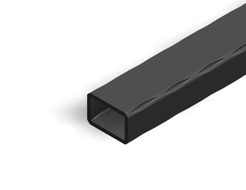 Rechteckrohr | gehämmert | Maße: 30x20x2 mm | Länge: 3000 mm | Stahl S235JR, roh