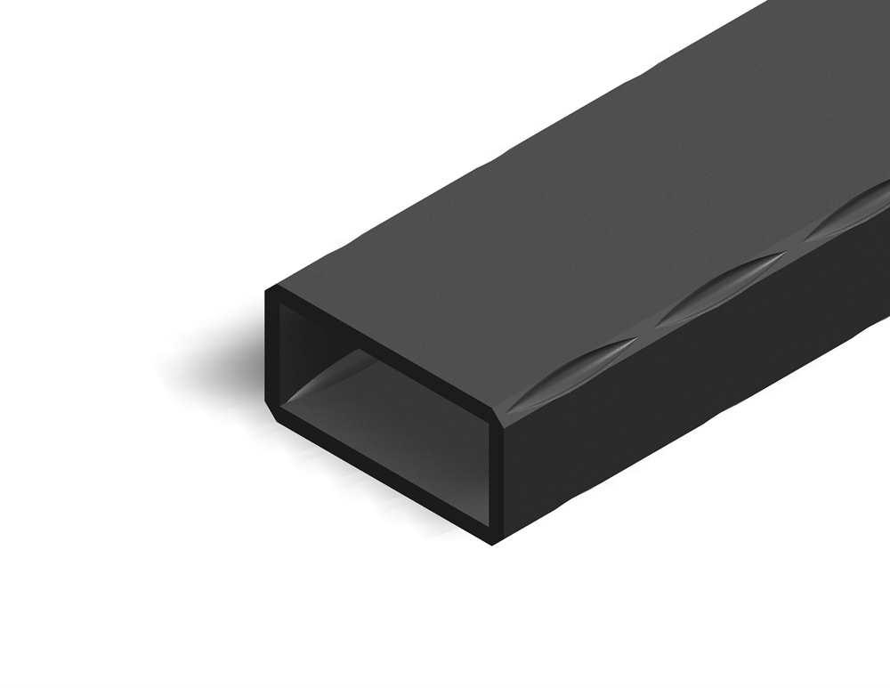 Rechteckrohr | gehämmert | Maße: 40x20x2 mm | Länge: 3000 mm | Stahl S235JR, roh