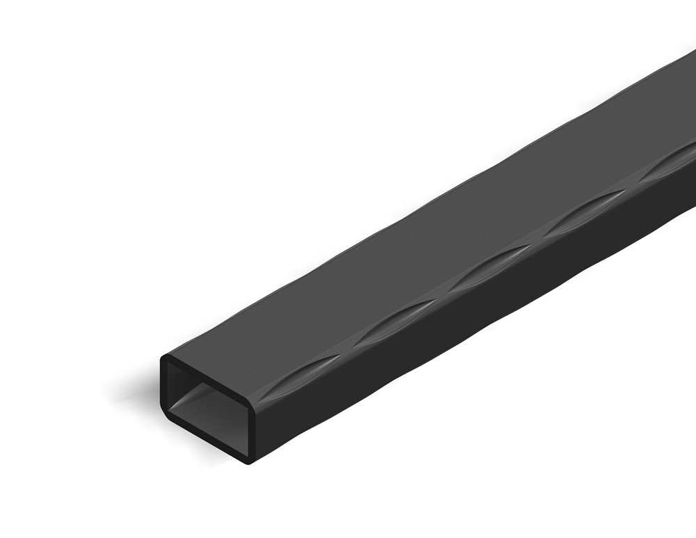 Rechteckrohr | gehämmert | Maße: 60x40x2,5 mm | Länge: 3000 mm | Stahl S235JR, roh