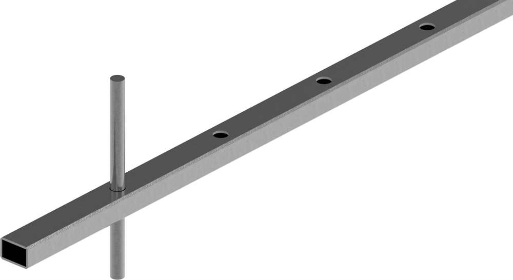Rechteckrohr | Maße: 30x20x2 mm | Länge: 3000 mm | Stahl S235JR, roh