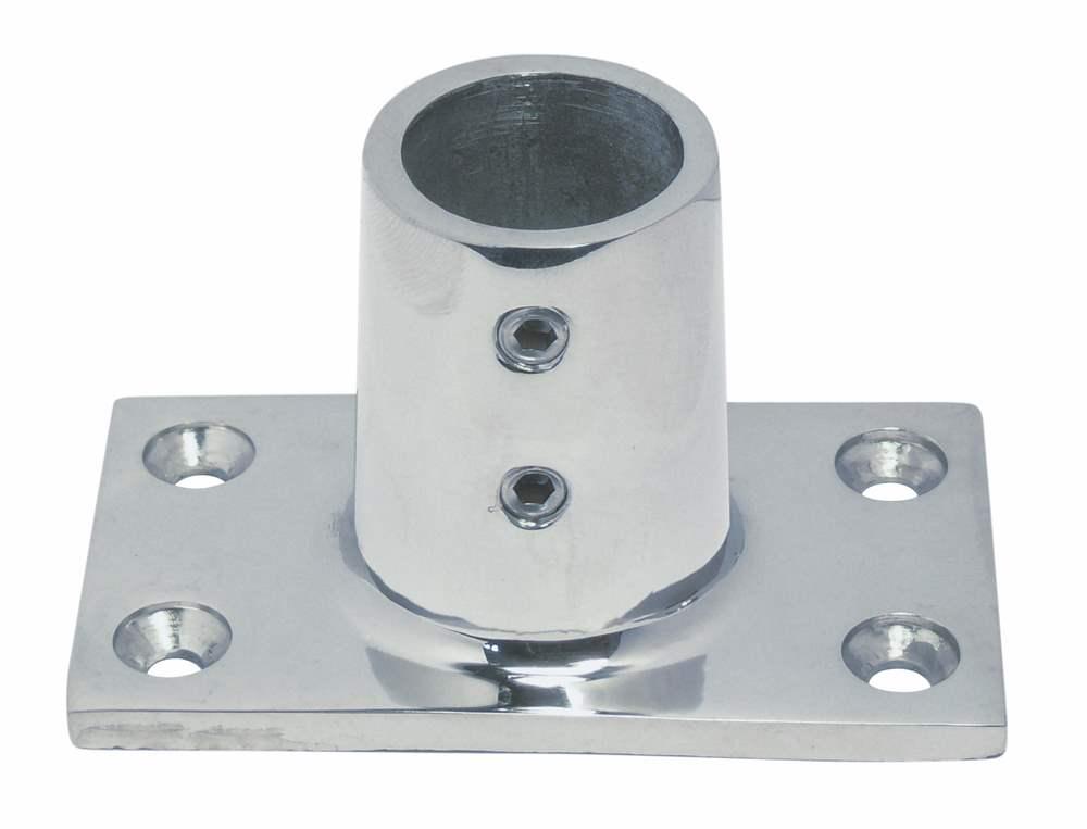 Relingfuß | mit rechteckiger Grundplatte | 90° | V4A
